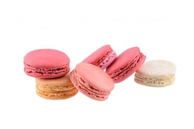Macaroons franceses doces e coloridos ou macaron