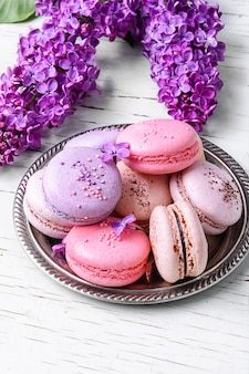 Macaroons franceses doces