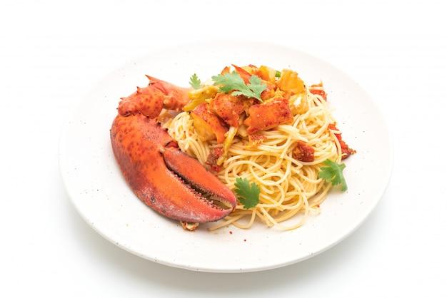 Macarrão all'astice ou espaguete de lagosta