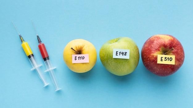 Maçãs para alimentos modificados por produtos químicos ogm