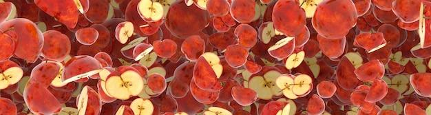 Maçãs vermelhas suculentas