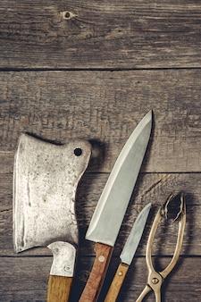 Machado para carne e facas