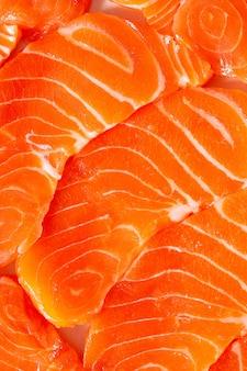 Macro de filé de salmão