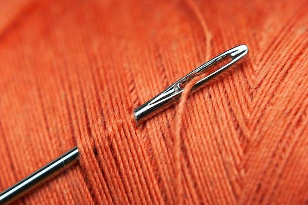 Macro de linha da agulha e da bobina