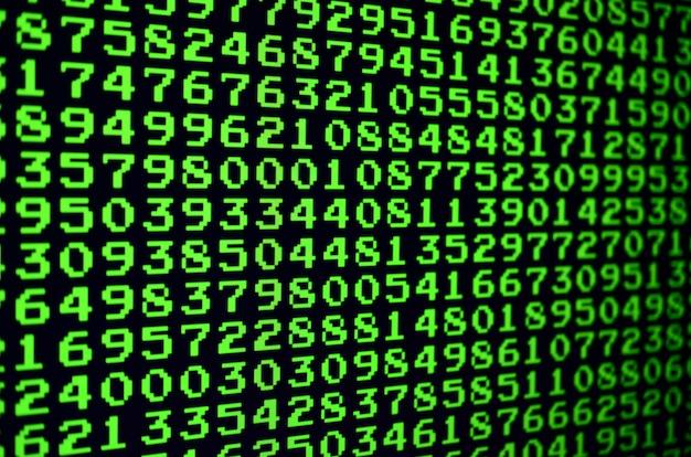 Macro de seleção de senha no monitor do computador do escritório.