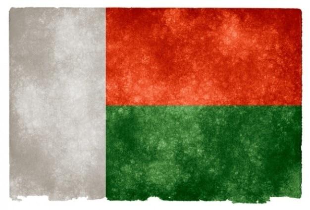 Madagascar grunge bandeira