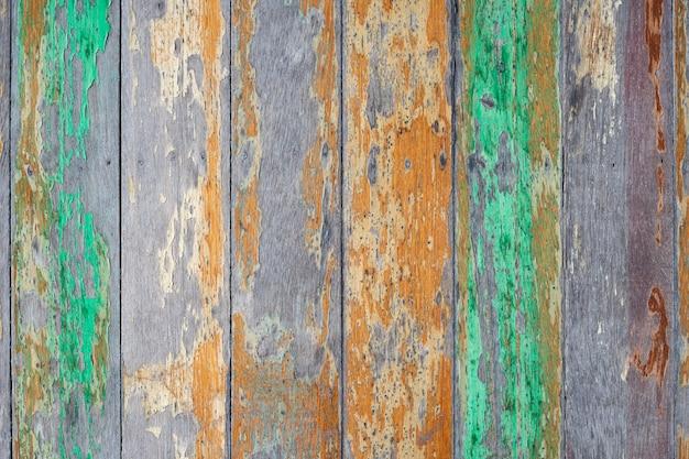 Madeira abstrata do grunge com fundo pintado rachado velho da textura.