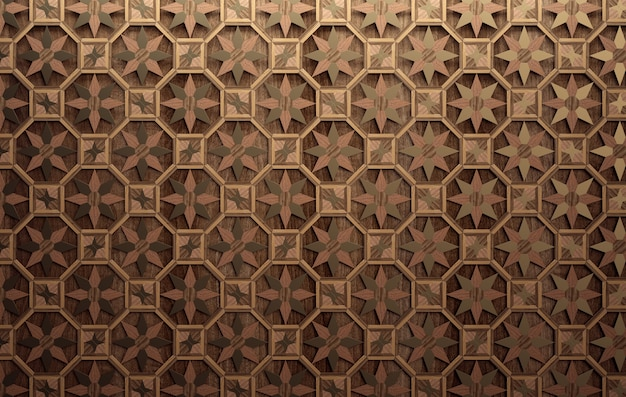 Madeira ornamental. padrão sem emenda geométrico exótico.