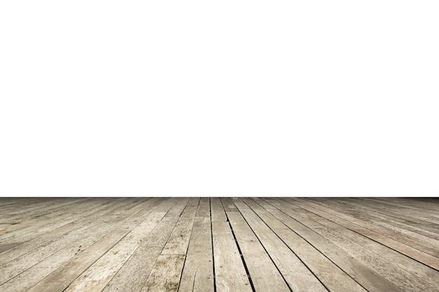 Madeira velha ou canto de mesa de madeira em branco, incluindo traçado de recorte