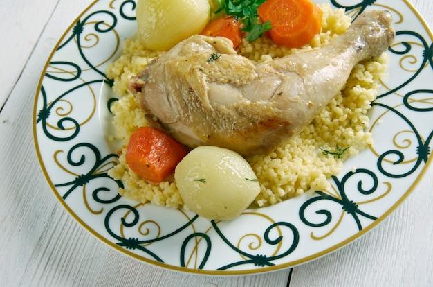 Maftul - cuscuz de frango na palestina