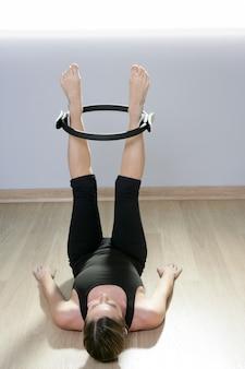 Magic pilates ring mulher aeróbica esporte ginásio