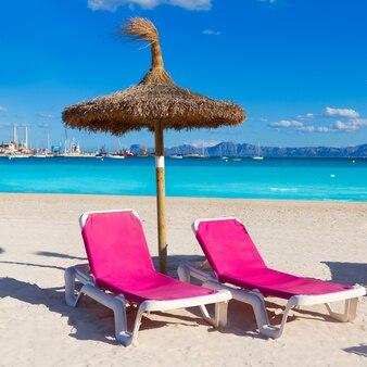 Maiorca platja de alcudia praia em maiorca