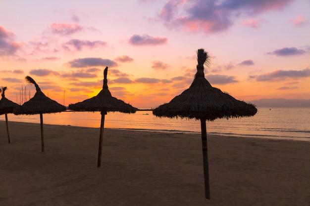 Majorca el arenal praia sarenal pôr do sol perto de palma