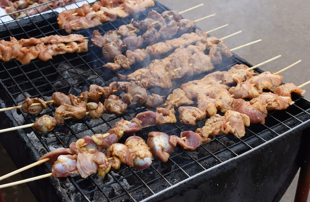 Mala, churrasco de porco toast grill molho com pimenta sichuan
