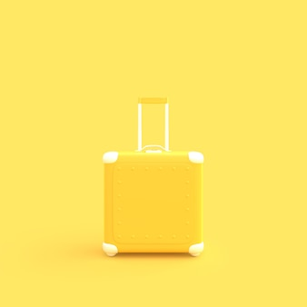 Mala de viagem amarelo cor pastel
