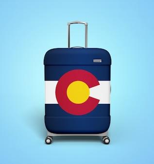 Mala de viagem da bandeira de colorado - férias