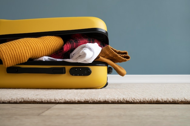 Mala de viagem e embalagem de preparações