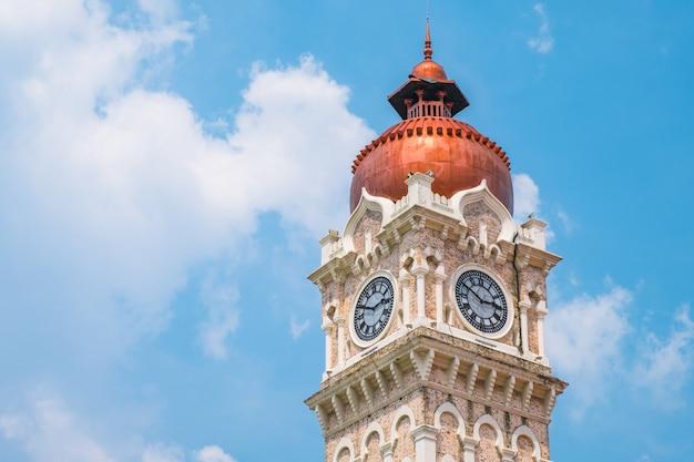 Malásia, kuala lumpur - torre do relógio dataran merdeka.