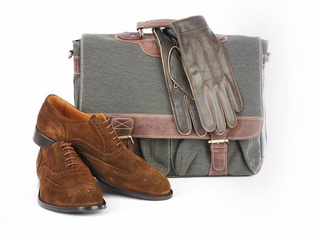 Maleta e luvas de maleta para homem