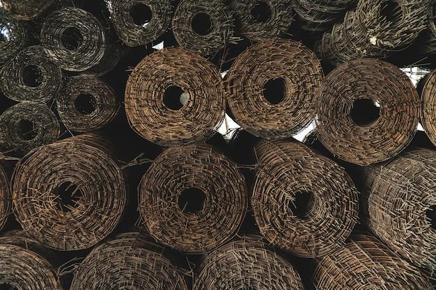 Malha de aço com fio para construção, estrutura de construção forte e força.