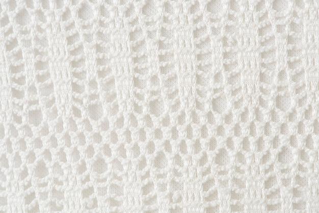 Malha de crochê branco estampado
