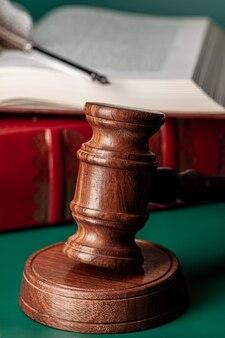 Malho de um juiz, close-up tiro