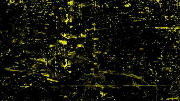 Mancha amarela abstrata e respingos, fundo colorido do grunge. estilo de ilustração 3d elegante e luxuoso para modelo moderno e aquarela