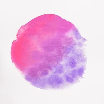 Mancha cor-de-rosa e azul redonda no fundo branco