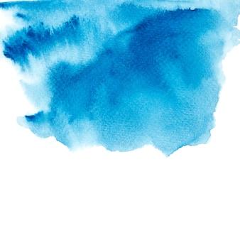 Mancha de aquarela azul com tons de cor pintura curso
