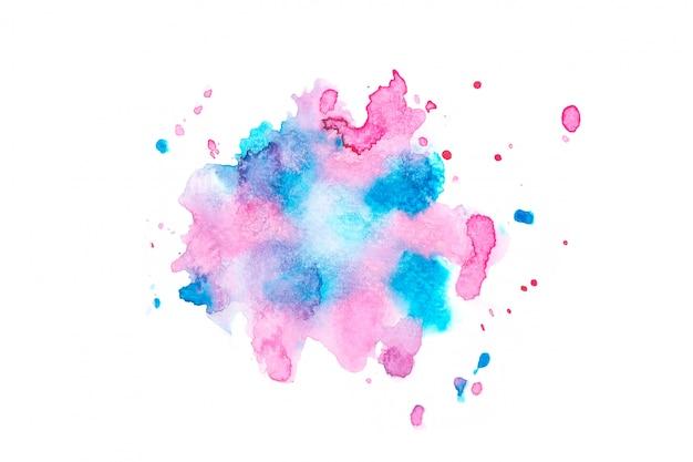 Mancha de aquarela com tons de cor pintar o fundo
