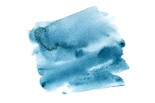 Mancha de aquarela da marinha com tons de cor pintar o fundo