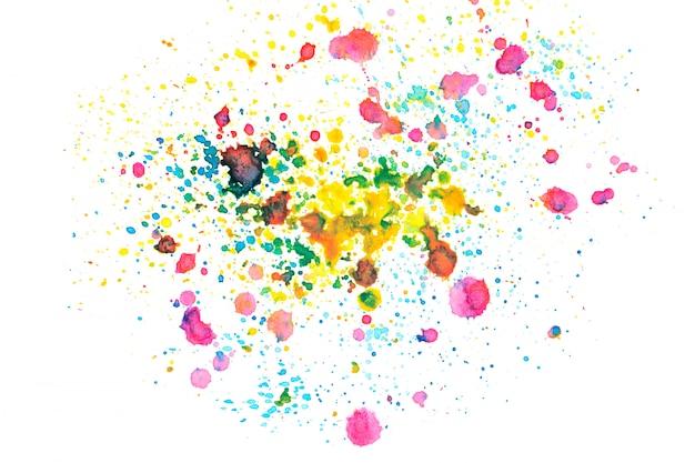 Mancha de aquarela de arco-íris com tons de cor pintar o fundo