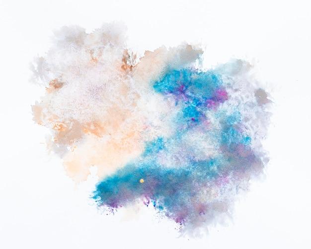 Mancha de aquarela desenho abstrato