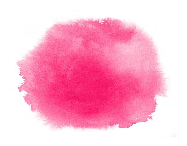 Mancha de aquarela rosa com lavagem. textura aquarela para dia dos namorados ou casamento