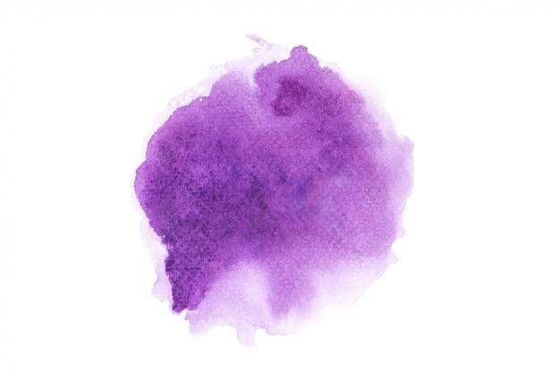 Mancha de aquarela roxa com tons de cor pintar o fundo