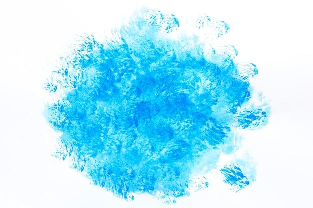 Mancha de desenho abstrato azul