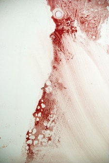 Mancha de sangue na parede