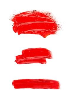 Mancha de tinta a óleo isolada no espaço em branco. coleção de pinceladas de acrílico abstratas.