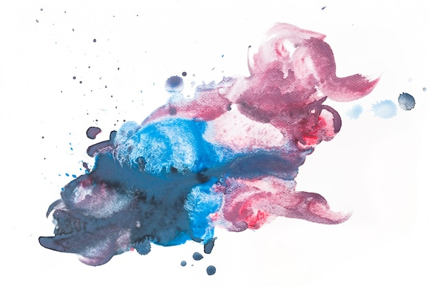Mancha roxa e azul