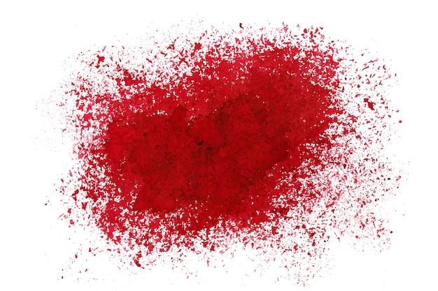 Mancha vermelha pulverizada. fundo abstrato do grunge. espaço para seu próprio texto. ilustração raster