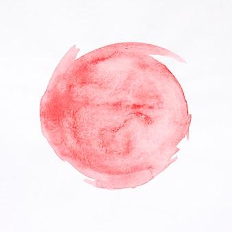 Mancha vermelha redonda fundo aquarela