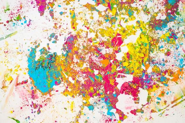 Manchas coloridas de diferentes cores secas