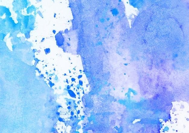 Manchas de aquarela azul