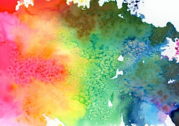 Manchas de aquarela multicoloridas