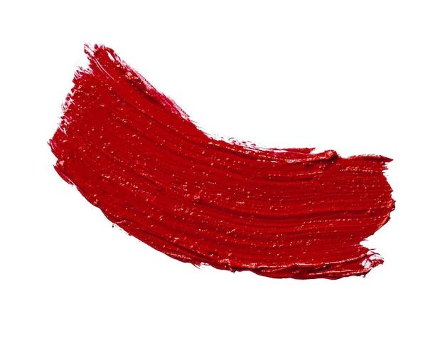 Manchas de borrão de batom vermelho isoladas no fundo branco