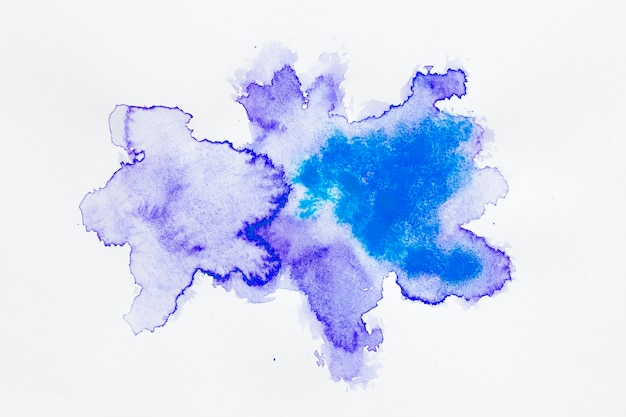 Manchas de desenho abstrato azul e roxo