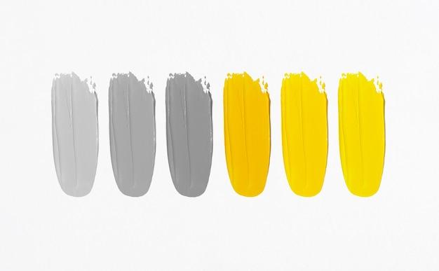 Manchas de tinta a óleo. cinza iluminador e ultimate.