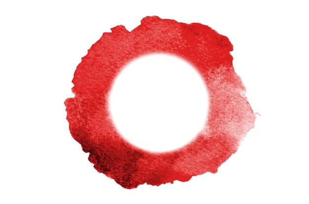 Manchas vermelhas de aquarela formando um círculo