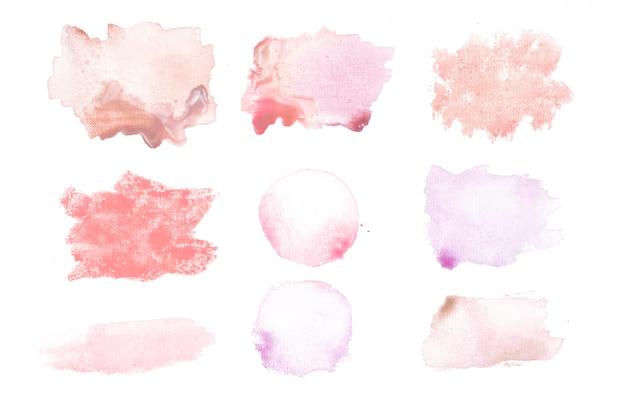 Manchas vermelhas e cor de rosa