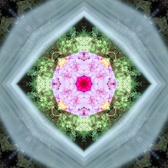 Mandala, caleidoscópio, design padrão abstrato